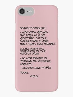 """Klaroline Letter"" iPhone Cases & Skins by pixsam | Redbubble"