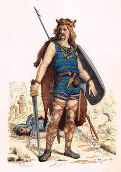 Frankish warrior clothing in the 5th century. Description from world4.eu. I searched for this on bing.com/images