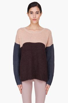 BY MALENE BIRGER Peach Combo Kidmohair Billiye Sweater
