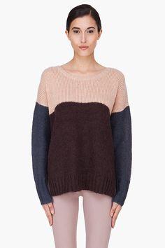 BY MALENE BIRGER Peach Combo Kidmohair Billiye Sweater