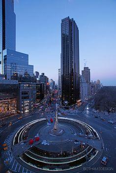 Columbus Circle and Trump International Hotel & Tower, New York