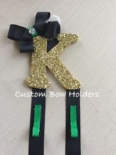 Hair Bow Holder - Cheer Bow Holder Sparkle Letter - Any Colors/Letters