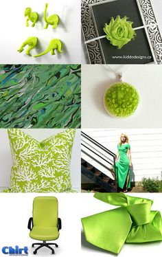 Bright and Green by Kelly K on Etsy--Pinned with TreasuryPin.com #Pillows #Cushions #HomeDecor