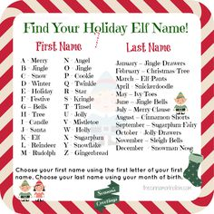 what is your elf name - Google Search