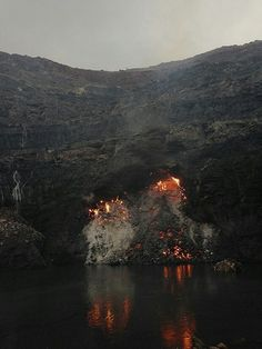 Jharia town, India, fire, coal, fire and water