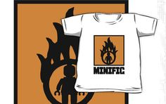 """""""MINIFIG IN FLAME LOGO by Customize My Minifig"""" Kids Clothes by ChilleeW 