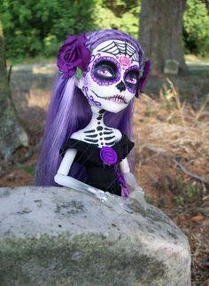 Monster High spectra custom Day of the dead 2 by AdeCiroDesigns.deviantart.com on @deviantART