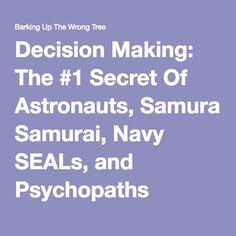 Decision Making: The #1 Secret Of Astronauts, Samurai, Navy SEALs, And