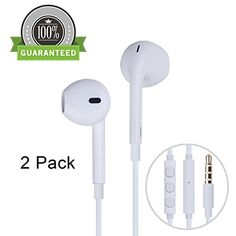 Amoner 2 Pack Premium Earphones/Earbuds/Headphones with Stereo Mic & Remote Control for iPhone 6S/iPhone 6, iPhone 6 Plus,iPhone 5s 5c 5, iPad /iPod and more(White)   // Look the price and customers reviews: http://ibestgadgets.com/product/amoner-2-pack-premium-earphonesearbudsheadphones-with-stereo-mic-remote-control-for-iphone-6siphone-6-iphone-6-plusiphone-5s-5c-5-ipad-ipod-and-morewhite/   #gadgets #electronics #digital #mobile