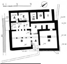 Fig. 5  Plan of the 'villa' at Achladia (after Mantzouraniand Vavouranakis 2005,  5).