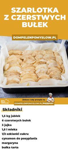 Jak wykorzystać czerstwe bułki? Zrób z nich szarlotkę! - DomPelenPomyslow.pl Banana Bread, Cooking, Kitchen, Food, Kitchens, Essen, Meals, Cuisine, Yemek