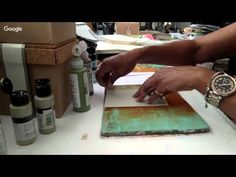 Layering Technique with Gelli® Printed Tissue Paper - YouTube