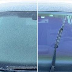Dieser Trick macht Scheiben frei - in Sekunden! #tipps #tricks #vereist #windschutzscheibe #kratzen #eisspray #winter #scheibe
