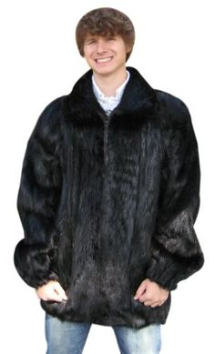 Special Offers Available Click Image Above: Bergama Mens Beaver Bomber Jacket - Black