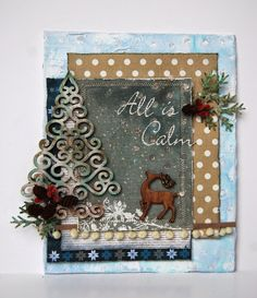 Violent Kittie: All is Calm Christmas Canvas