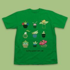 Grass Type Pokemon Plants T-shirt Gotta Plant Em All by InksterInc