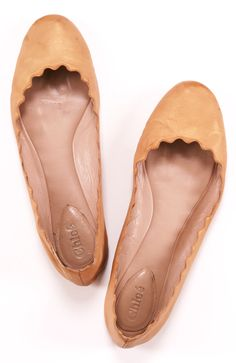 Scalloped edged flats.