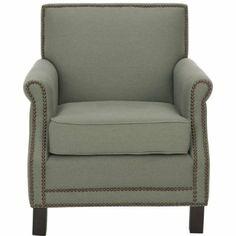 Amazon.com - Safavieh Mercer Collection Charles Grey Linen Club Chair   $290