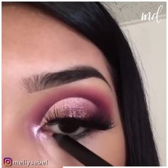 Eye Makeup Steps, Eye Makeup Art, Makeup Inspo, Makeup Dupes, Eyeshadow Makeup, Makeup Cosmetics, Bridal Eye Makeup, Purple Eye Makeup, Semi Cut Crease