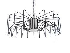 Modern Lighting | black Metal Rod Pendant | Opal Acrylic Cylinder | Custom Made by iWorks