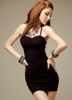 Korean Style Backless Sexy Hollow Out Dress @Korean Clothes
