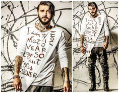 #Feathers te scoate din impas.  Put this #designer #tshirt on and get into #TROUBLE!   Tricou Designer Trouble http://www.feathers.ro/tricou-designer-trouble.html  Photo credits: Ciprian Strugariu Retouch: Alex Stanciu Make-up: Adriana Dumitras Model: Razvan Popa