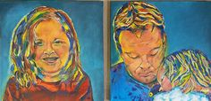 Kleurrijke portretten Paintings, Art, Art Background, Paint, Painting Art, Kunst, Performing Arts, Painting, Painted Canvas