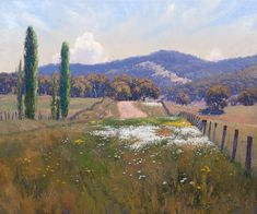 """I love this man's paintings!The Long Garden by Warwick Fuller oil on board 40"""" x 47"""" www.panterandhall.com"""