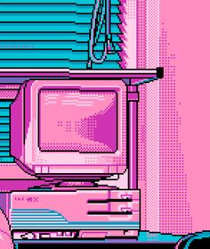 Computer lovely pixel images, 2019 aesthetic art, pixel art ve aesthetic wa Purple Aesthetic, Retro Aesthetic, Aesthetic Anime, Aesthetic Pics, Kawai Japan, 8 Bit Art, 8 Bits, Pixel Image, Glitch Art