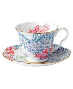 Wedgwood Dinnerware, Spring Blossom Cup and Saucer - Fine China - Dining & Entertaining - Macy's