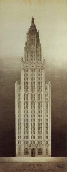 Chicago Tribune tower competition 1922. Yoshijiro Mine