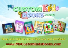 Six personalized kids books to choose from. ABCs, Colours and Numbers, Dreamland Adventure book, On the Go transportation book for boys, Princess Book for girls, and I Love You book featuring up to two children.