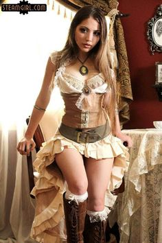 Nice outfit, add your steam accessories and BAM perfect steampunk outfit