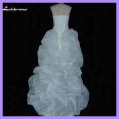robe de marriage White Organza Sweetheart Hi low Beach Wedding Dresses 2018 Front Short Long Back Wedding Gowns abiti da sposa