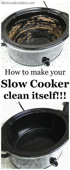 Diy: Your Slow Cooker Clean Itself!!!
