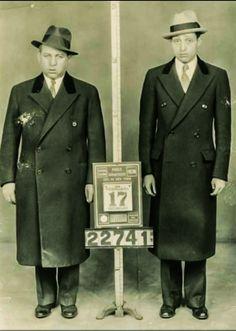 "Jacob ""Gurrah"" Shapiro and Albert ""TickTock "" Tannenbaum in a NYPD line-up."