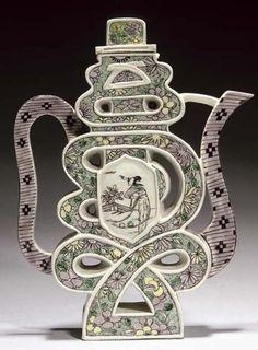 Chinese Famille Vert Teapot  19th Century  Christie's
