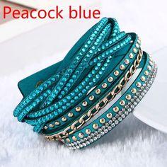 Rétro Style Bohémien Argent Antique Creux Lady Bracelet Bracelet Fashion pompons