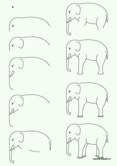 Hoe teken je een olifant