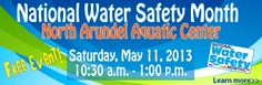 Join us Saturday, May 11th for Water Safety Day at the North Arundel Aquatic Center!