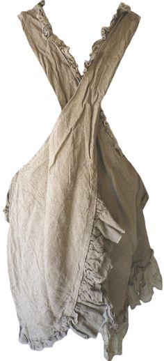 Magnolia Pearl: Flax linen Beulah Apron Dress