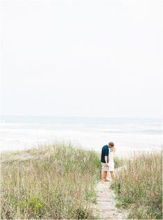 Emerald Isle Beach Engagement Session - Engagement Session Outfits - Beach Engagement - North Carolina Coastal Wedding - South Carolina Coastal Wedding - Coastal Elopement Inspiration - Beach Engagement Outfits - Fine Art Film Engagement Photography - Melissa Blythe NC Wedding Photographer