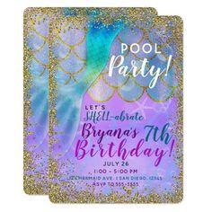 Mermaid Theme Birthday, Little Mermaid Birthday, Little Mermaid Parties, Mermaid Themed Party, 4th Birthday Parties, Birthday Party Decorations, Birthday Ideas, 5th Birthday, 7th Birthday Party For Girls Themes