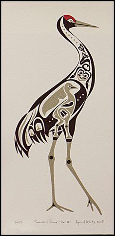 Pacific Northwest Indian Art Sandhill Crane