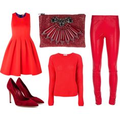 """""""Ready for red?"""" by stockholmmarket on Polyvore"""