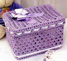 Risultati immagini per croche endurecido Crochet Box, Crochet Basket Pattern, Crochet Gifts, Crochet Doilies, Crochet Lace, Free Crochet, Doily Patterns, Crochet Patterns, Crochet Jar Covers