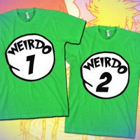 Weirdo 1 through 12 BFF Shirts
