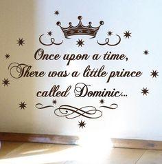 baby prince nursery | Little Prince Nursery Vinyl Rhyme Wall Art Sticker Decal Children Kids