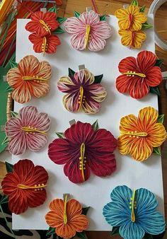 Květy - Ibišku * quilling                                                                                                                                                                                 More