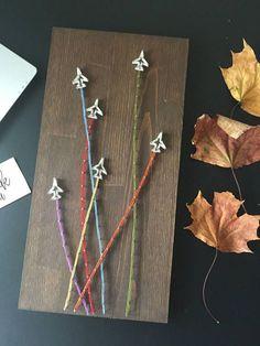 Planes String Art/Planes Wall Art/String Art Vehicles/Nail and